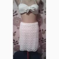 Продам кружевную белую юбку