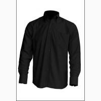 Рубашка мужская с длинным рукавом черная