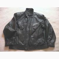 Большая кожаная мужская куртка ITALLO. Италия. Лот 621